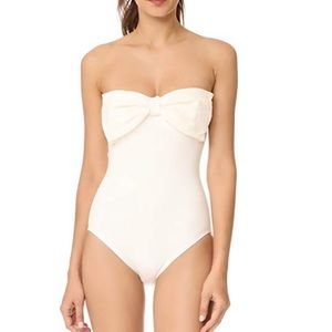 KATE SPADE White Bow Swimsuit